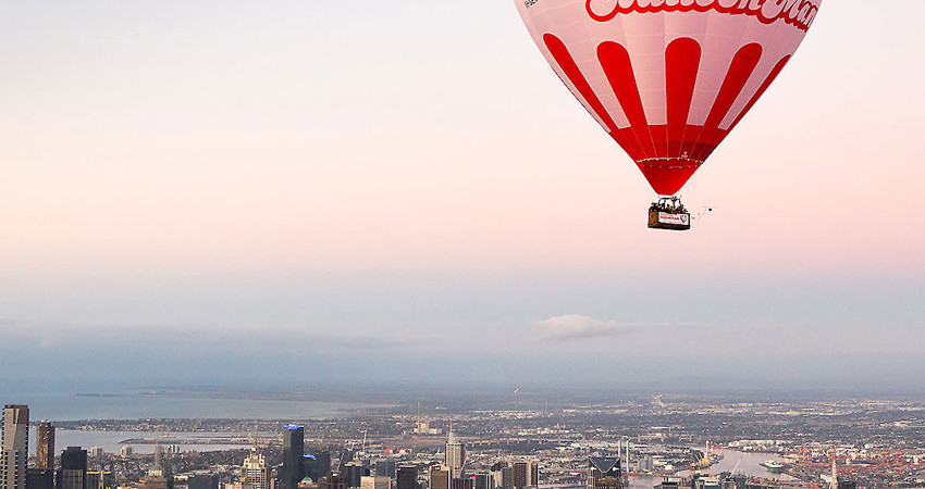 Balloon Man over Melbourne