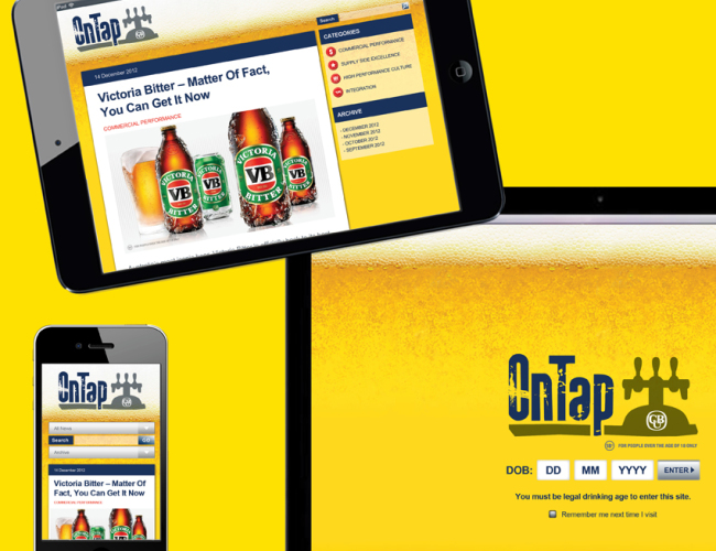 Carlton & united Breweries Online micro site