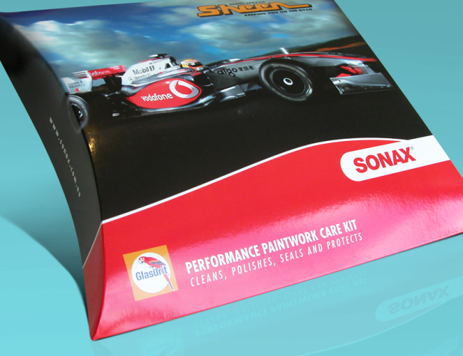 Sonax Pillow Box Packaging