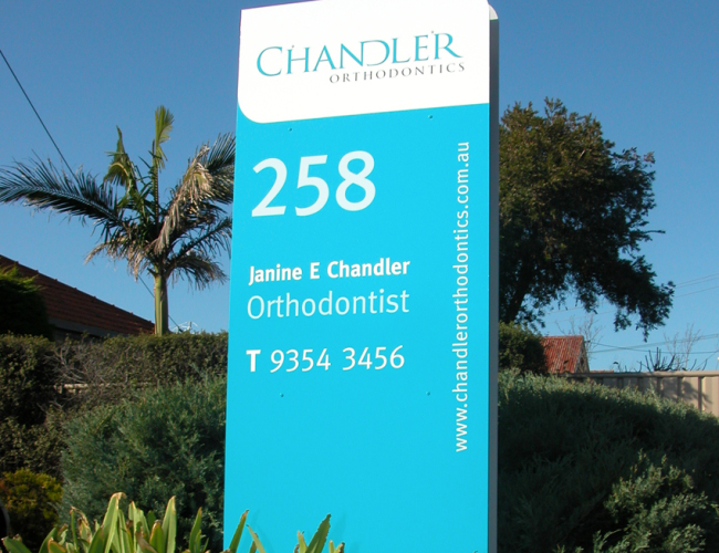 Chandler Orthodontics Street Sign