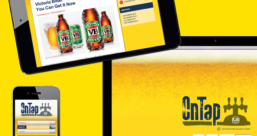 Carlton & united Breweries Online micro site
