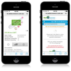 WebConnect Mobile Website